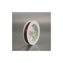 Perle in Plastica Forma di Rosellina - Colore MARRONE CHIARO - Ø mm 10