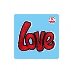 SCRITTA LOVE ROSSO PATCH IN...