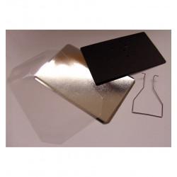 Cofanetto Tascabile Quadrato con Decoro su Porcellana - Fiori