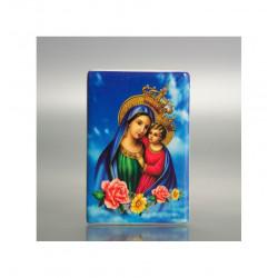 Portapillola Tascabile Rettangolare con Decoro su Porcellana - Lettere Dorate su Fondo Blu