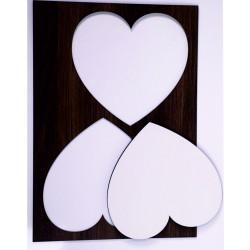 Magnete rettangolare in porcellana, cm 5x7,5, immagine Sacro Cuore Maria