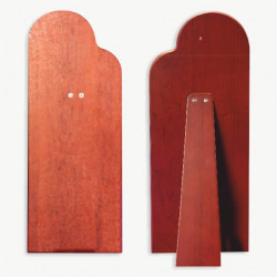 Braccialetto a molla con grani in acciaio con 1 immagine religiosa a forma ovale mm. 75x16