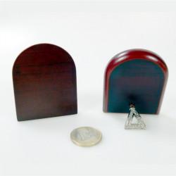 Piastrina bombata in porcellana 1 scelta con immagine Sacro Cuore Maria mm 45x30