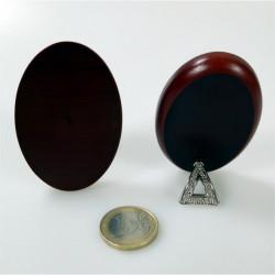 Piastrina bombata tonda in porcellana con immagine Padre Pio Ø mm 41