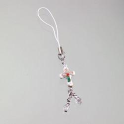 Decalcomania sfondo bianco con rose con boccioli cm 5,3 x 5,3