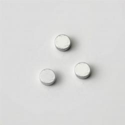 Distanziatore Ferma-Perla da Schiacciare - Forma Rondella - Bagno Argento - mm 1,4x1,5